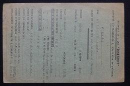 """MILITARIA - Carte De Service De Matelot à Bord Du Bâtiment  De Ligne"""" Dunkerque """"- L 21455 - Documenti"""