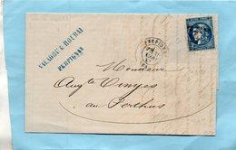N°46B Sur L.A.C. De PERPIGNAN Pour LE PERTHUS,le 20/3/71. - Postmark Collection (Covers)