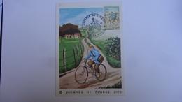 Journee Du Timbre 1972  Facteur Rural A Bicyclette  Decazeville  Aveyron - FDC