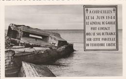 Militaria : COURSEULLES-sur-MER : Calvados : Juno-beach : Guerre 1939-45 ( CPSM Photo. Vérit. ) - Weltkrieg 1939-45