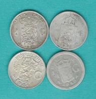 Dutch East Indies - ¼ Gulden - 1901 (KM305) 1903 (KM310) 1910 (KM312) 1941 (KM319) - Indes Néerlandaises