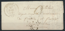 France Frankreich Brief Écouen Via Paris Nach Pontoise 17.8.1841 - France