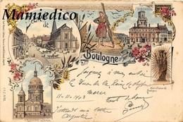 """1903 """" Souvenir De Boulogne"""" Chromolithographie  Offerte Par La 1ère Maison De Chicorée Française WILLIOT à POIX DU NORD - Souvenir De..."""