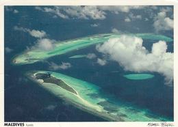 Maldives - Kuredu Atoll Seen From Airplane , Stamp - Maldives