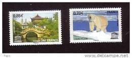 2009-UNESCO N°144/145** OURS & CHINE - Servizio