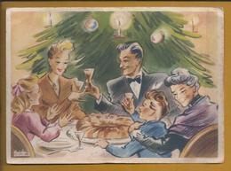 Port Wine Goblet. Toast To Christmas. Reiki Cake. Postcard Christmas Stationery. Drink. Portweinkelch. Trinken. 2sc.Rare - Vini E Alcolici