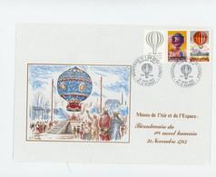 1er Vol En Montgofières, France FDC - Luchtballons