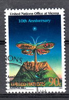 United Nations New York 1989 Mi Nr 578, Vlinder, Butterfly, Vulkaan, Volcano - New York - Hoofdkwartier Van De VN