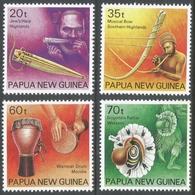 Papua New Guinea. 1990 Musical Instruments. MH Complete Set. SG 628-631 - Papua New Guinea