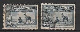MiNr. 347 Peru  1936, 20. Dez./1937, 1. Febr. Flugpostmarken: Landesmotive. - Peru