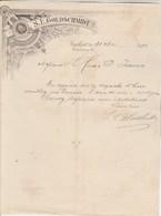 Allemagne Facture Lettre Illustrée 31/5/1894 GOLDSCHMIDT Wheingrosshandlung Thee Rum FRANKFURT - Allemagne