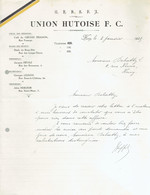 M-Document Union Hutoise F.C. - Huy Le 3-Janvier-1925 - Sports & Tourisme
