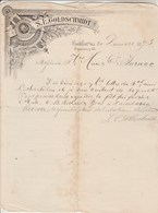 Allemagne Facture Lettre Illustrée 20/12/1893 GOLDSCHMIDT Wheingrosshandlung Thee Rum FRANKFURT - Allemagne