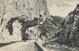 CPA 11 Aude Environs De Quillan Vallée De L'Aude Défilé De Pierre Lys Attelage Cheval Paysans Remorque Charrette 1911 - France
