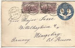 ESTADOS UNIDOS USA 1894 ENTERO POSTAL Y SELLOS COLON COLUMBUS - Christophe Colomb