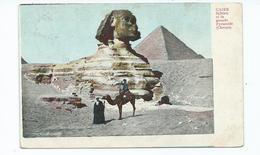 Egypt Postcard Sphinx Pyramid Posted Sudan Stamp - Kairo