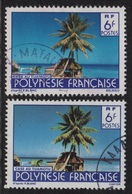 Polynesie - N°137 - Case De Tuamotu - Variete 2 Nuances De Bleu  - Obliteres - Used Stamps