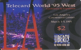 USA: Quest Telecom, Liberty - TeleCard World '95 Exposition Los Angeles - Vereinigte Staaten