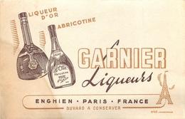 Buvard Ancien LIQUEURS GARNIER ABRICOTINE - ENGHIEN - PARIS - Liqueur & Bière
