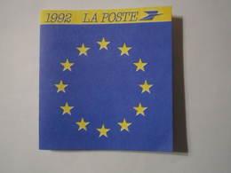 1992 PETIT CALENDRIER EN 2 VOLETS LA POSTE PROGRAMME PHILATÉLIQUE - Calendriers