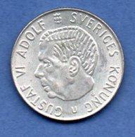 Suède  -  1 Krone 1966  - Km # 826  - état  SUP+ - Suède