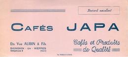 Buvard Ancien CAFE JAPA - ETABLISSEMENTS VVE AUBIN ET FILS - SAINGHIN EN WEPPES - Café & Thé