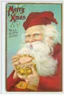 N°4432 - Carte Gaufrée - Merry Christmas - Santa Claus Avec Un Coffret à Bijoux - Santa Claus