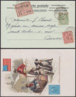 FRANCE CP EN RECOMMANDE DE MORTAGNE 05/09/1901 VERS CALVADOS (6G20355) DC-1685 - 1900-29 Blanc