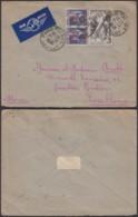 FRANCE LETTRE PAR AVION DE PARIS 1948 VERS CASABLANCA MAROC (DD) DC-1698 - Marcophilie (Lettres)