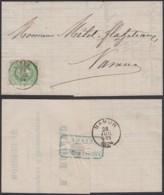 BELGIQUE COB 30 SUR LETTRE DE CYNEY 28/07/1874 VERS NAMUR (VG) DC-1706 - 1869-1883 Léopold II