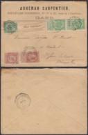 BELGIQUE COB 56 X3+57X2 SUR LETTRE DE GAND 19/04/1895 VERS St JOSSE (VG) DC-1708 - 1893-1900 Thin Beard