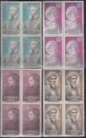SPANIEN 1677-1680, 4erBlock,, Postfrisch **, Persönlichkeiten 1967 - 1961-70 Unused Stamps