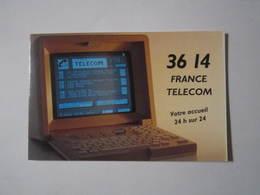 1993 PETIT CALENDRIER EN 2 VOLETS 3614 FRANCE TELECOM MINITEL - Calendriers