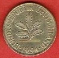 GERMANY  #  10 PFENNIG FROM 1994 - 10 Pfennig