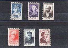 Série Complète De 1954 N°989 à 994 * TB - Unused Stamps