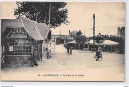 OUISTREHAM - La Gare Et La Sortie - Très Bon état - Ouistreham