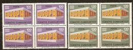 Turquie Turkei Turkije CEPT 1969 Yvertn° 1891-1892 *** MNH 4 Séries Cote 12,00 Euro Europa - 1921-... République