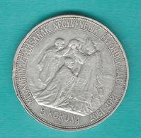 Hungary - Franz Josef - 5 Corona - Coronation 40th Anniversary - 1907 - KM489 - Hongrie