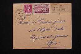 ALGÉRIE - Enveloppe En Recommandé De Souk El Tenine Pour Alger En 1957 - L 21487 - Algeria (1924-1962)