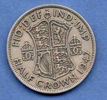 Grande Bretagne  - 1/2 Crown 1947  -  Km # 866   -état  TTB - 1902-1971 : Monnaies Post-Victoriennes