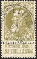 "COB   75 A (o) Oblitération ""Gosselies"" T2R - 1905 Thick Beard"