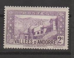 ANDORRA CORREO FRANCES SELLO NUEVO  *** SIN CHARNELA (C.CLASICOS. - Andorra Francesa