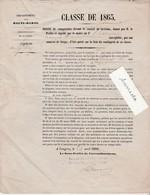 Ordre Comparaître Conseil Révision 1866 / Tirage Au Sort / François à Gilley 52 - Documenti