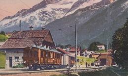 OLD  POSTCARD -  SWITZERLAND - LES DIABLERETS - TRAIN - STATION - LA GARE - VD Vaud