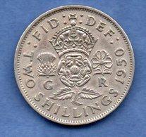 Grande Bretagne  - 1 Florin 1950  -  Km # 878   -état  TTB - 1902-1971 : Monnaies Post-Victoriennes