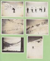 PORTE PUYMORENS, 1937 : Ski Au Col De Puymorens, Moniteur De Skis. Grande Piste De L'Hospitalet, Col De Tosas. 6 Photos - Lieux