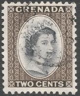 Grenada. 1953-59 QEII. 2c Used. Script CA W/M SG 194 - Grenada (...-1974)