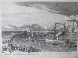Gravure  1872   Arrivee à DOUVRES DOVER    Du Navire Birman De Birmanie - Dover