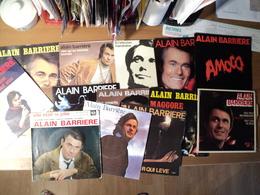 ALAIN BARRIERE. LOT DE DOUZE 45 TOURS ET DEUX 45 TOURS 4 TITRES. 1966 / 1981 TU T EN VAS / UN POETE / RIEN QU UN HOMME - Vinyl Records