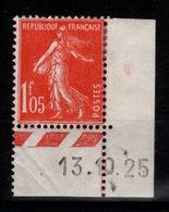 YV 195 N* Semeuse Petit Coin Daté Cote 10 Euros - France
